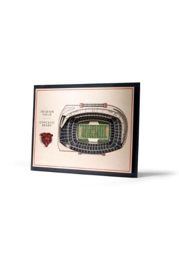Chicago Bears 5 Layer Stadiumviews 3D Wall Art