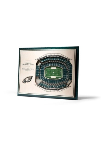 Philadelphia Eagles 5 Layer Stadiumviews 3D Wall Art