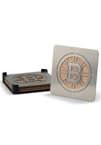 Boston Bruins Boaster Coaster Set