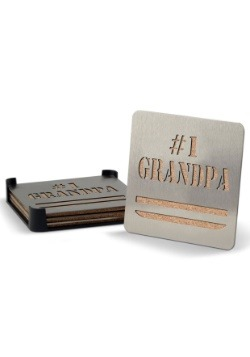 #1 Grandpa Boaster Coaster Set