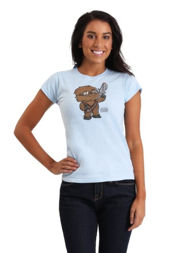 Star Wars Chewie Standing Proud SuperCute Juniors Tee