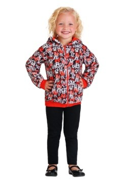 Minnie Mouse Girls Novelty Fleece Hooded Sweatshirt