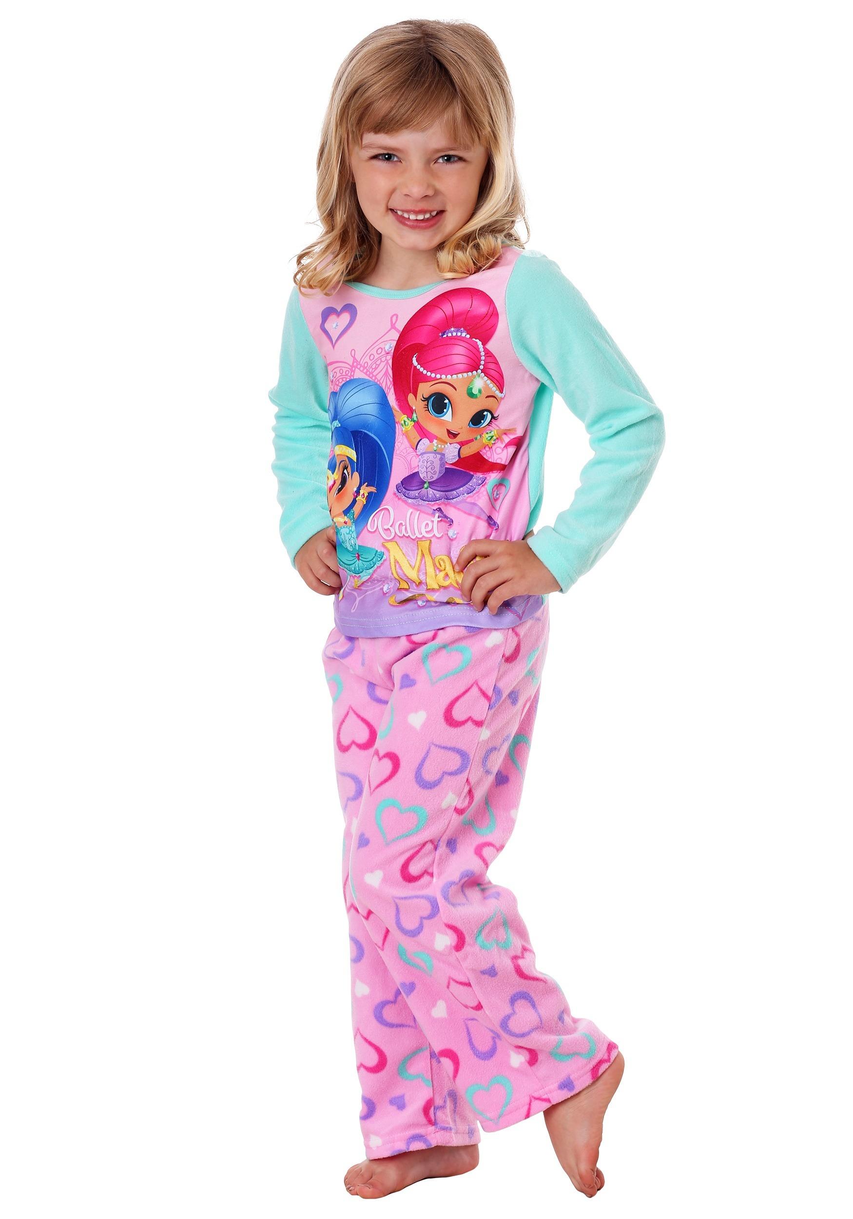 Shimmer shine girls 2 piece fleece pajama set