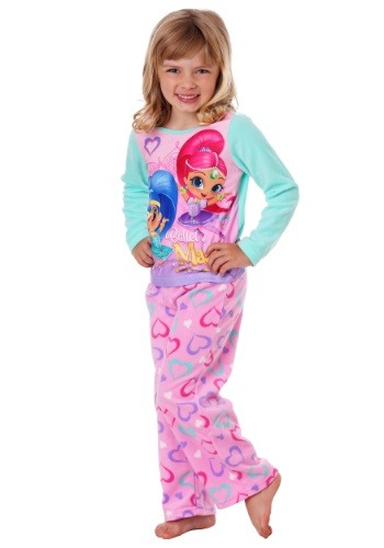 Shimmer & Shine Girls 2 Piece Fleece Pajama Set
