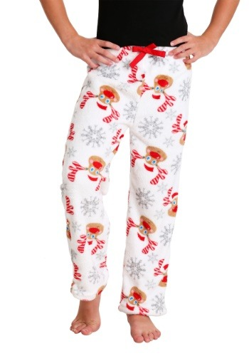 Girl's Rudolph Print Plush Lounge Pants