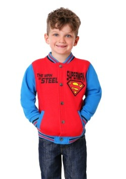 Superman Toddler Boy's Fleece Varsity Jacket with Appliqué