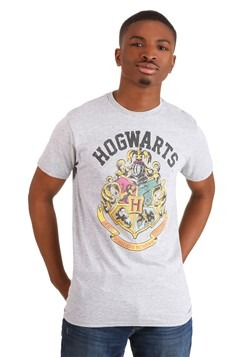 a5ea3855d Harry Potter Hogwarts Crest Men's Athletic Heather T-Shirt