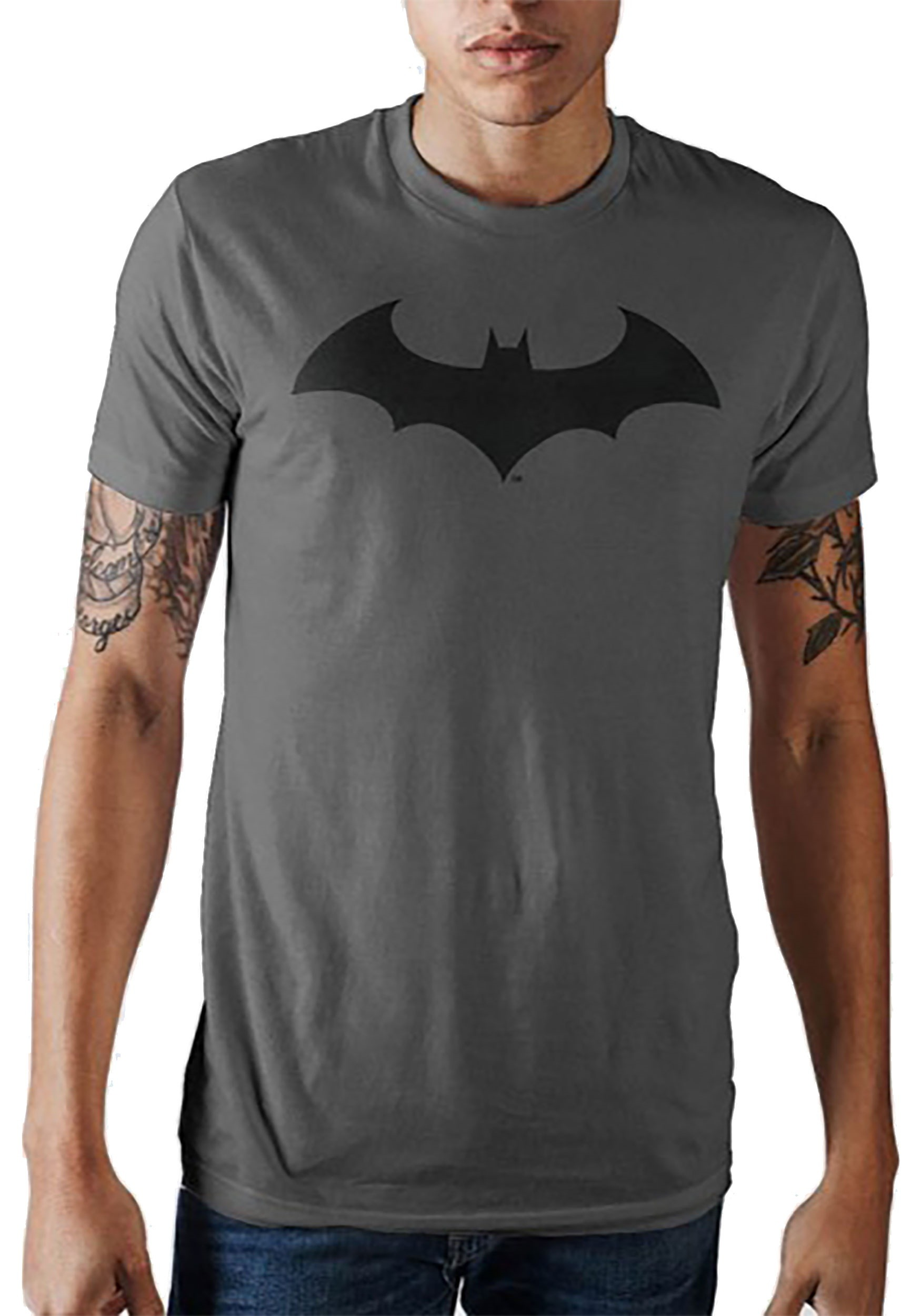 f281100adb2a3 Men s Batman Bat Symbol Charcoal T-Shirt