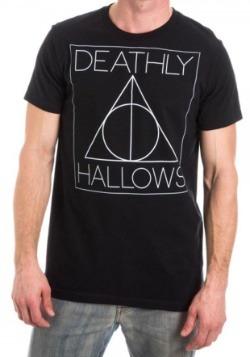 Harry Potter Deathly Hallows Logo Men's Black T-Shirt