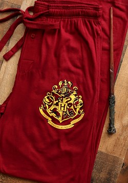 Harry Potter Hogwarts Crest Burgundy Sleep Pants Main Upd 2