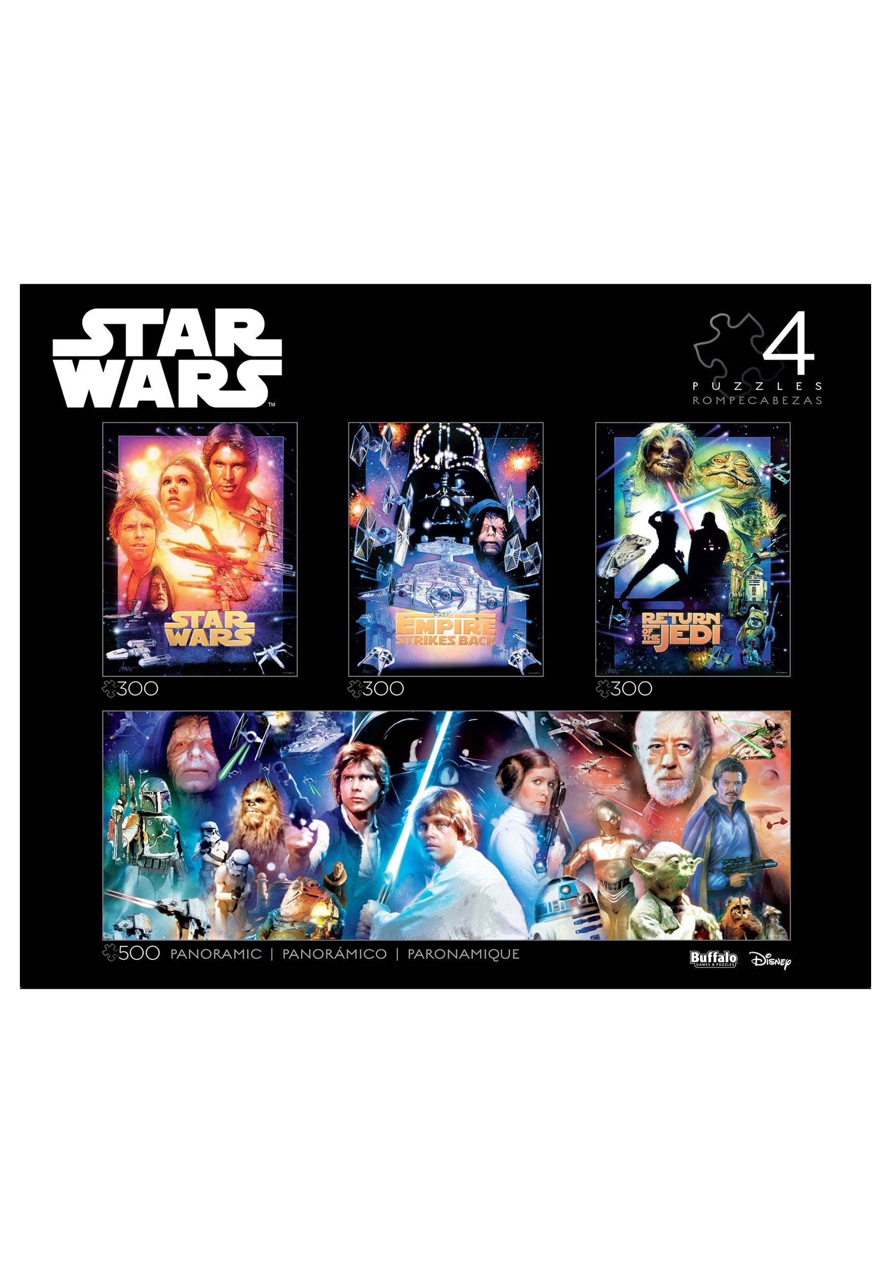 4-in-1 Star Wars Multipack Puzzle Collector's Edition
