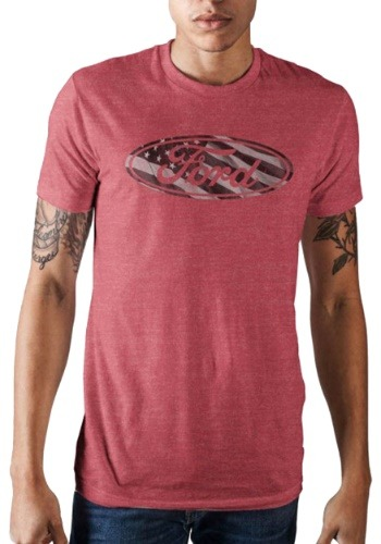 Ford Americana Men's Flag Logo Red Tee-update1