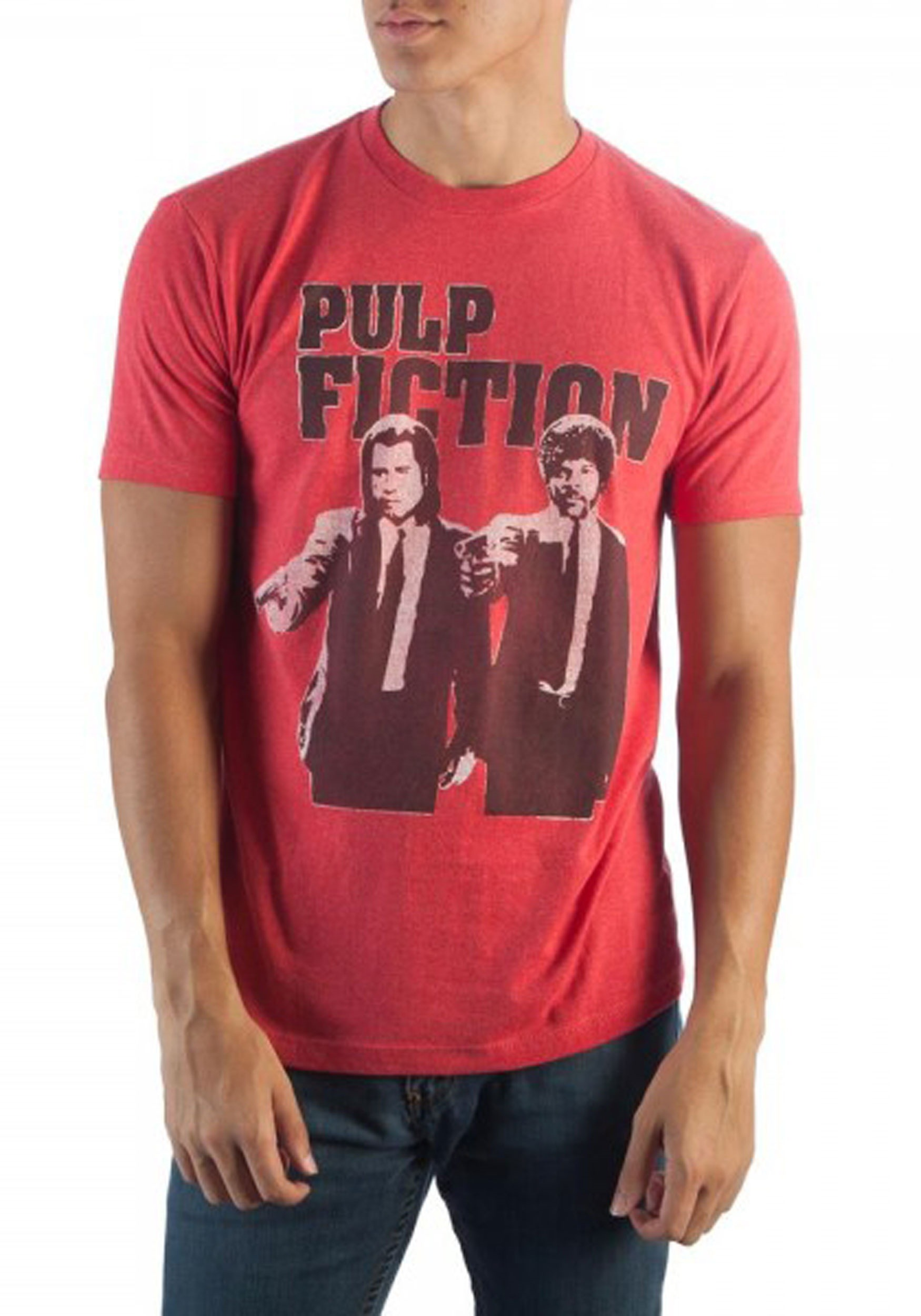 21b94ce6 Miramax Pulp Fiction Men's Red Heather T-Shirt