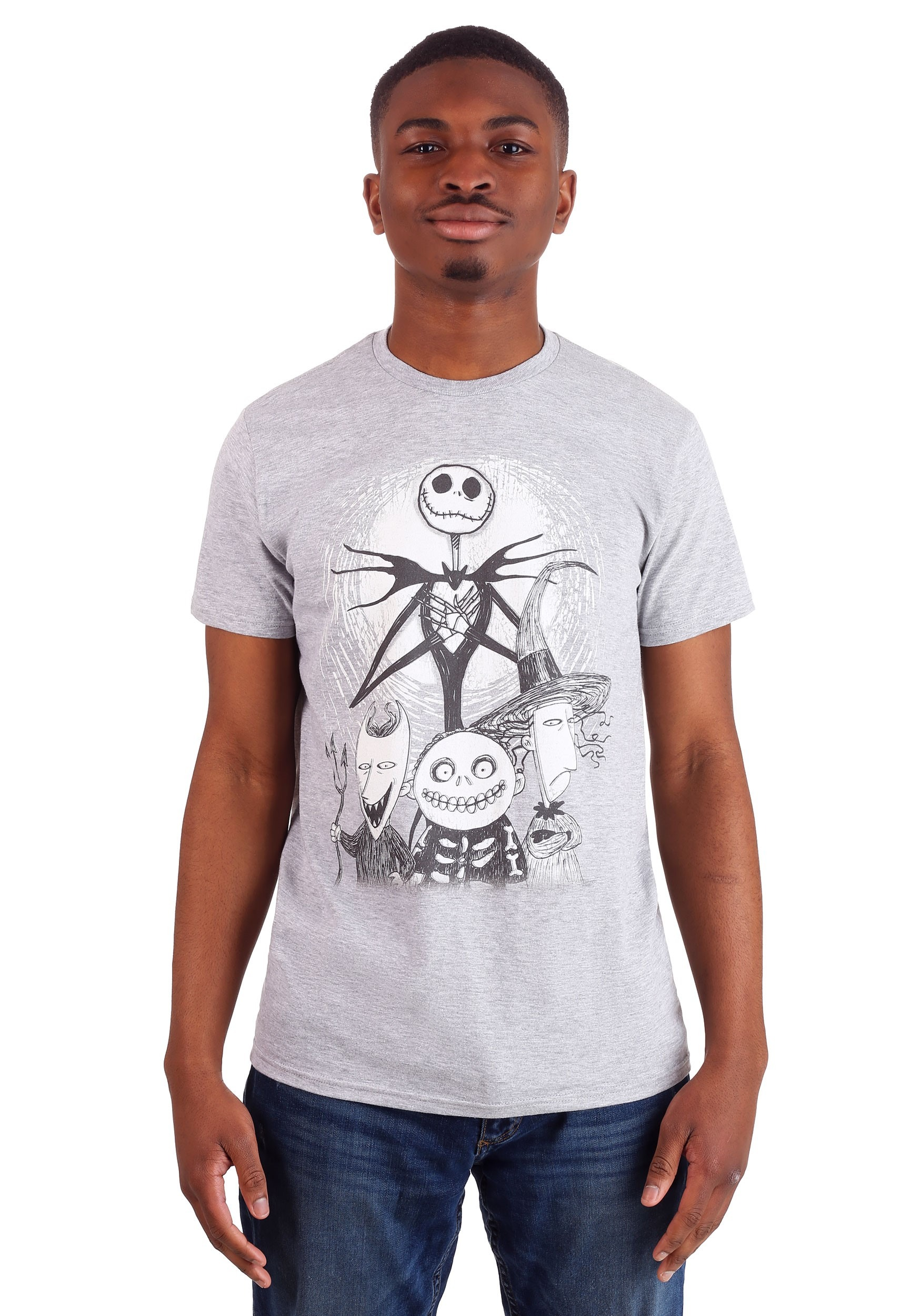 Nightmare Before Christmas Jack, Lock, Shock and Barrel Men\'s Shirt