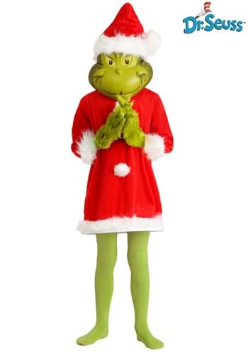 Child The Grinch Santa Deluxe Costume with Mask