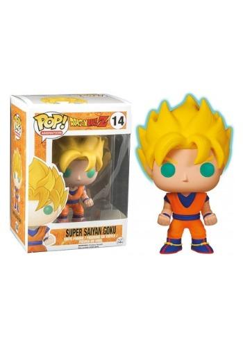 Dragon Ball Z Glow in the Dark Super Saiyan Goku Pop Figure
