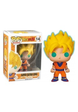 Dragon Ball Z Glow in the Dark Super Saiyan Goku Pop Figure