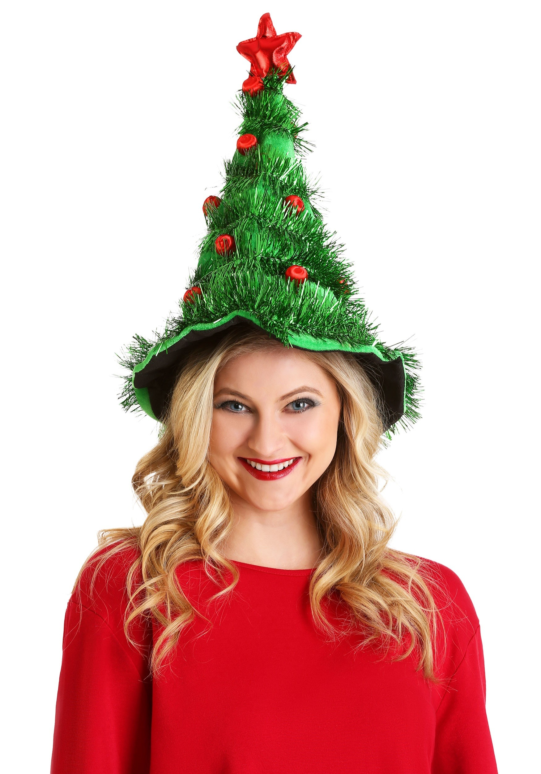 Light-Up Green and Red Christmas Tree Hat