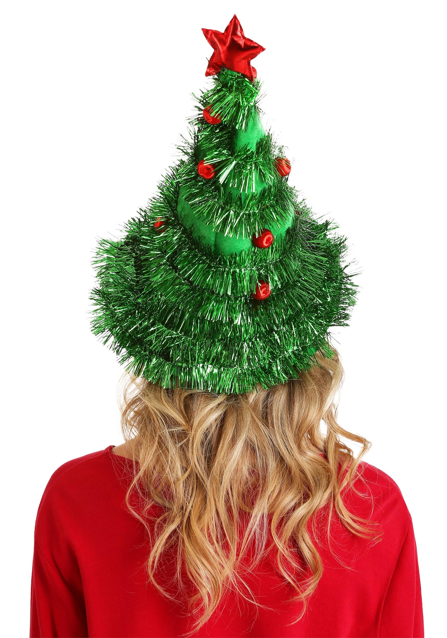 christmas tree light up hat back