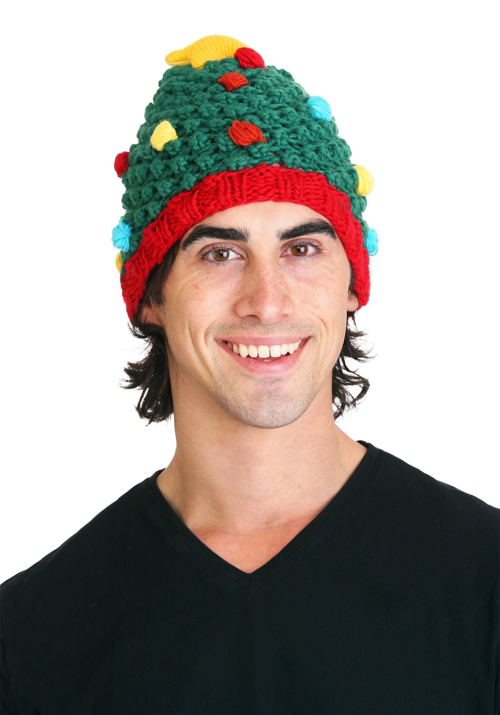 c798dd346 Christmas Tree Knit Hat