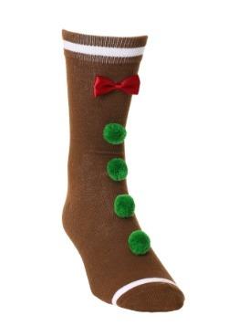 3D Novelty Gingerbread Man Crew Socks Adult