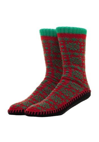 Mens Christmas Ugly Sweater Knit Slipper Socks 1