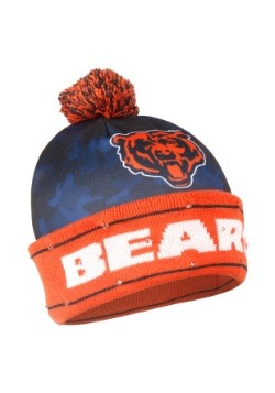 Chicago Bears Camouflage Light Up Printed Beanie