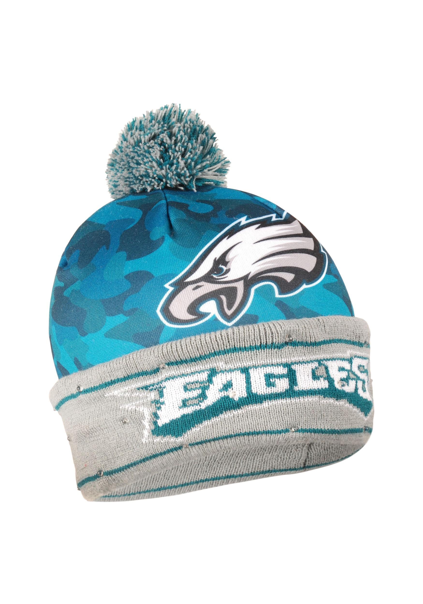 NFL Philadelphia Eagles Camouflage Light Up Printed Stocking Hat 716d972e91a