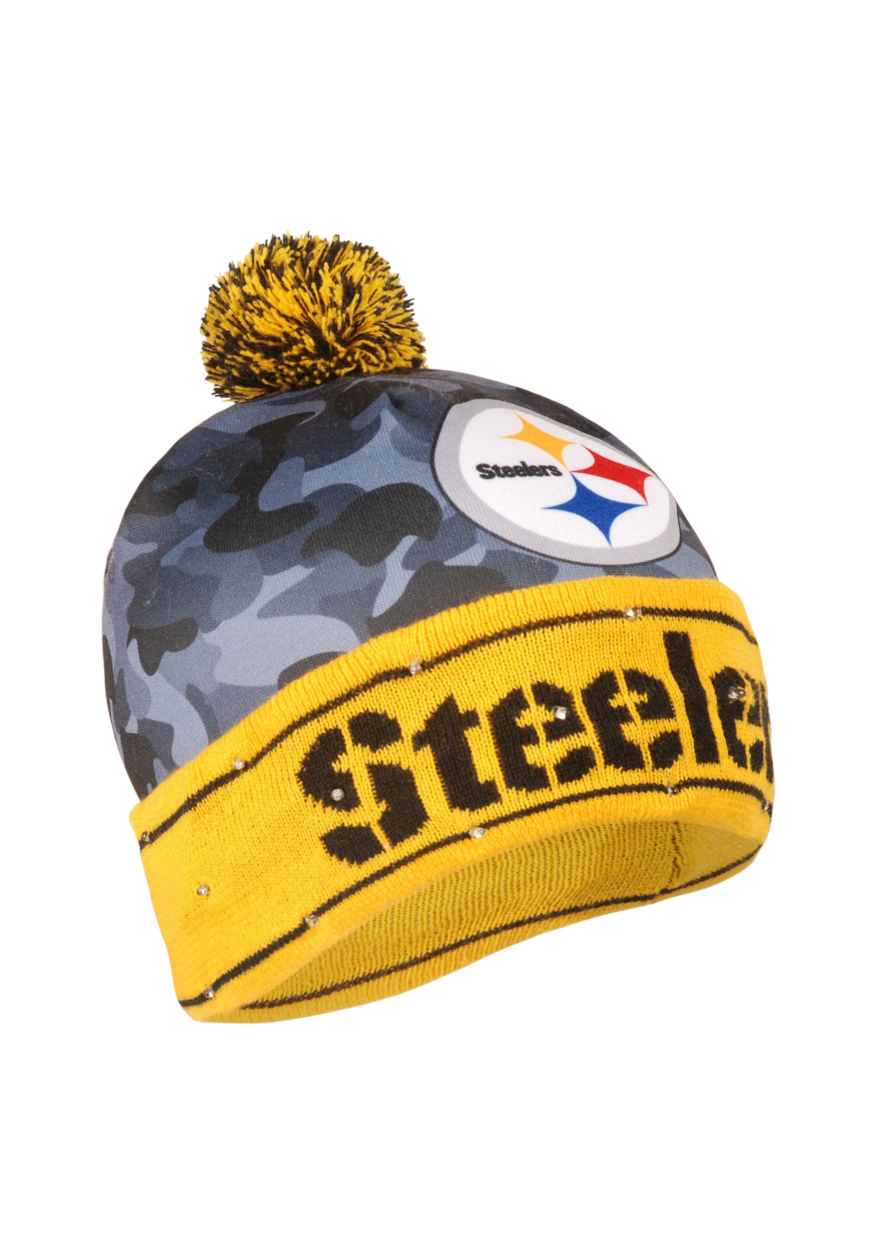 NFL Pittsburgh Steelers Camouflage Light Up Printed Stocking Hat 4acd3a571e0