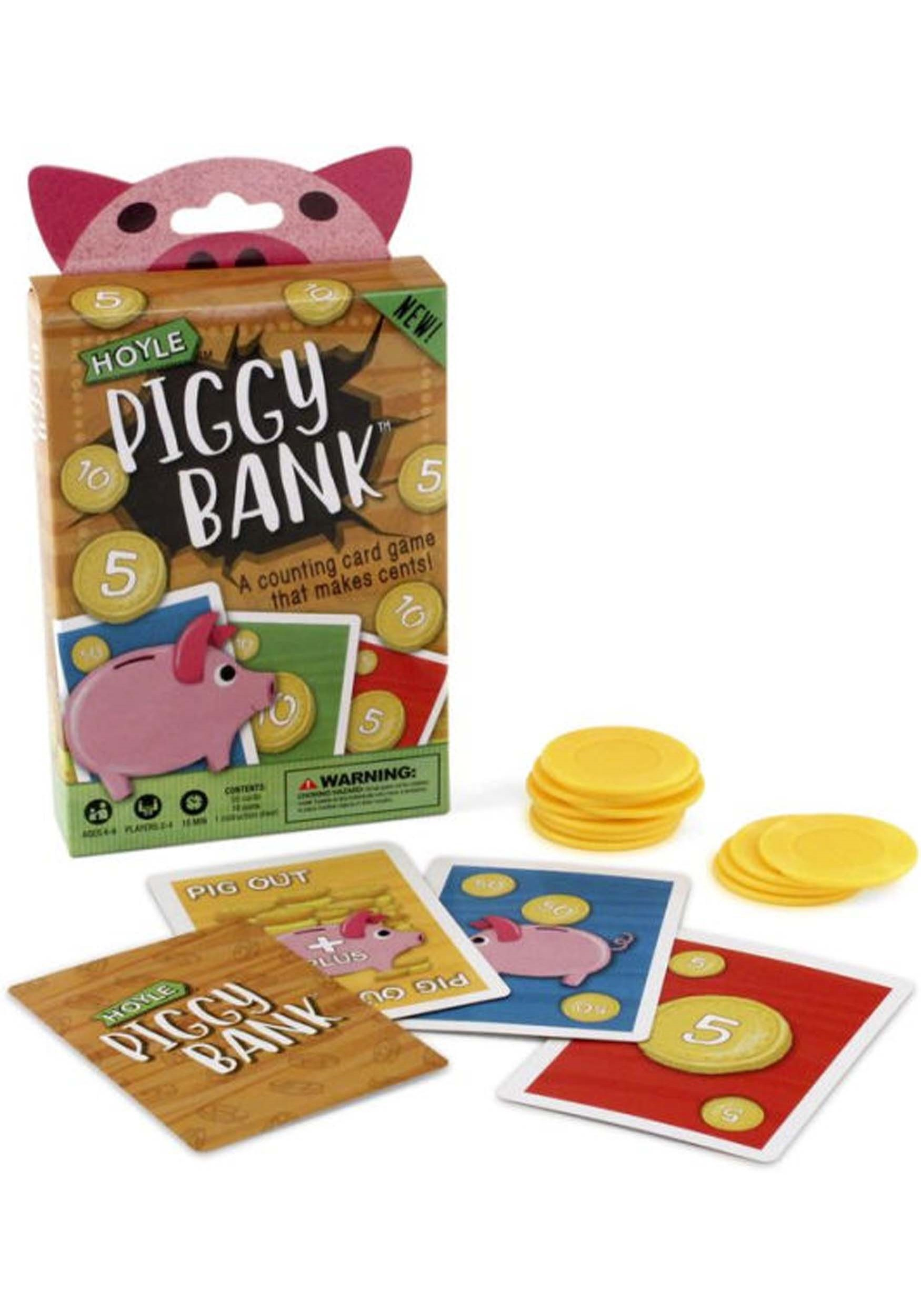 piggy bank card game for kids