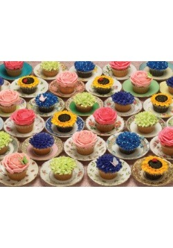 Cupcake and Saucers 1000 Piece Cobble Hill Puzzle
