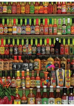 Hot Hot Sauce 1000 Piece Cobble Hill Puzzle