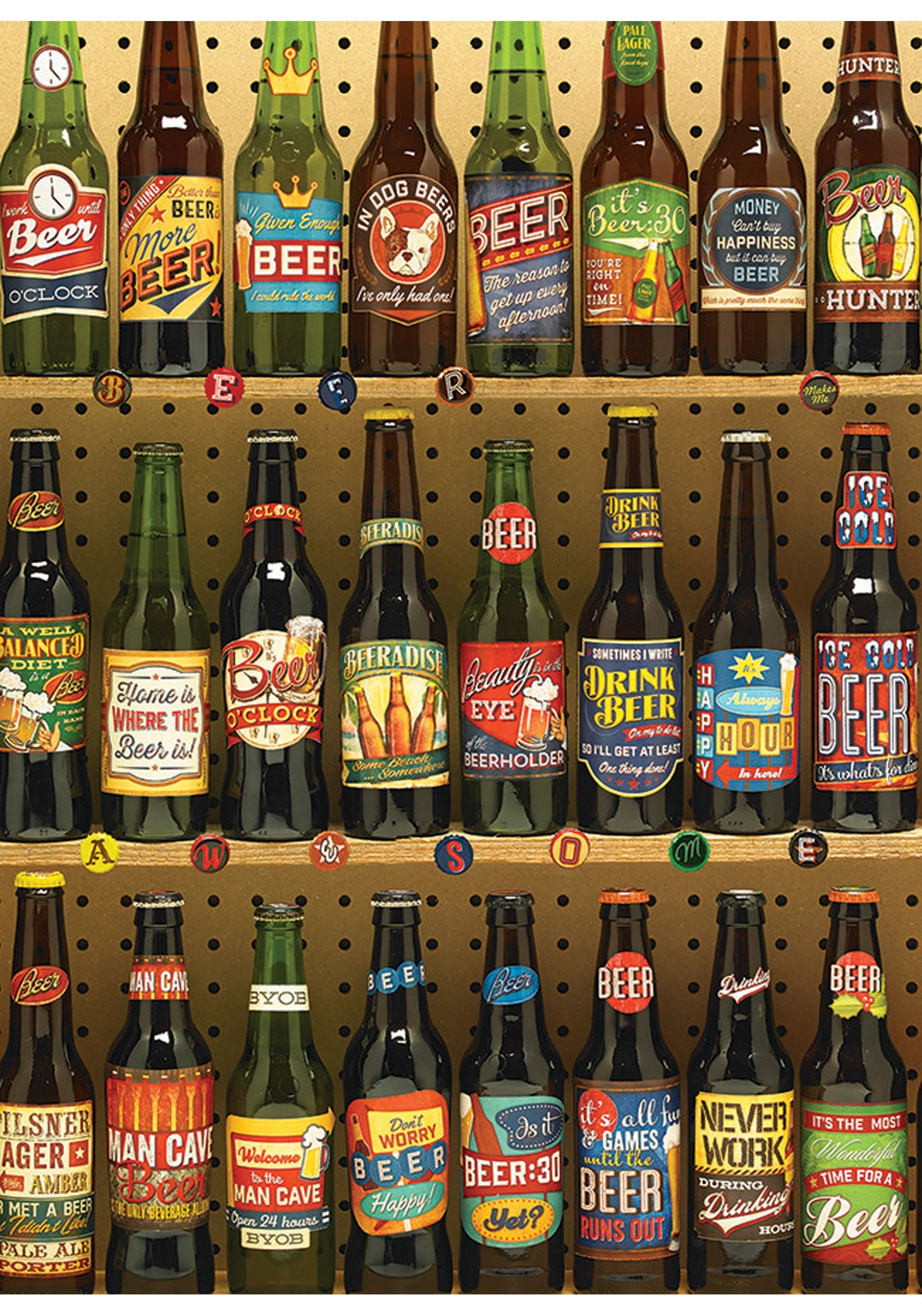 cobble hill puzzle  Beer Bottle 1000pc Cobble Hill Puzzle