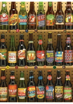 Beer Collection 1000 Piece Cobble Hill Puzzle