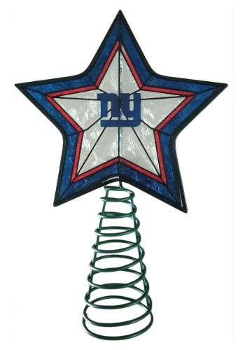 New York Giants Star Christmas Tree Topper