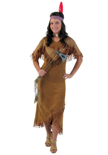 Women's Deluxe Native American Lady Costume