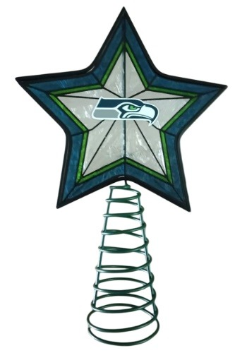 Seattle Seahawks Star Christmas Tree Topper