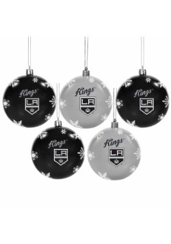 Los Angeles Kings 5 Pack Shatterproof Ball Ornament Set