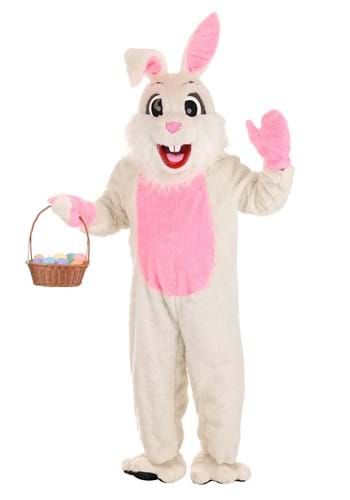 Easter Bunny White Mascot Costume UPD Main