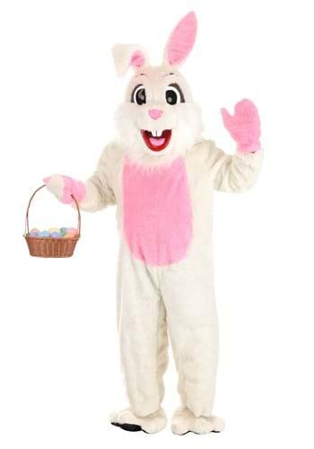 White Easter Bunny Mascot Costume Main UPD 1