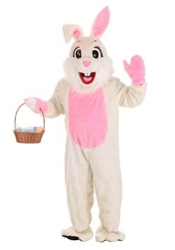 White Easter Bunny Mascot Costume Main UPD 1