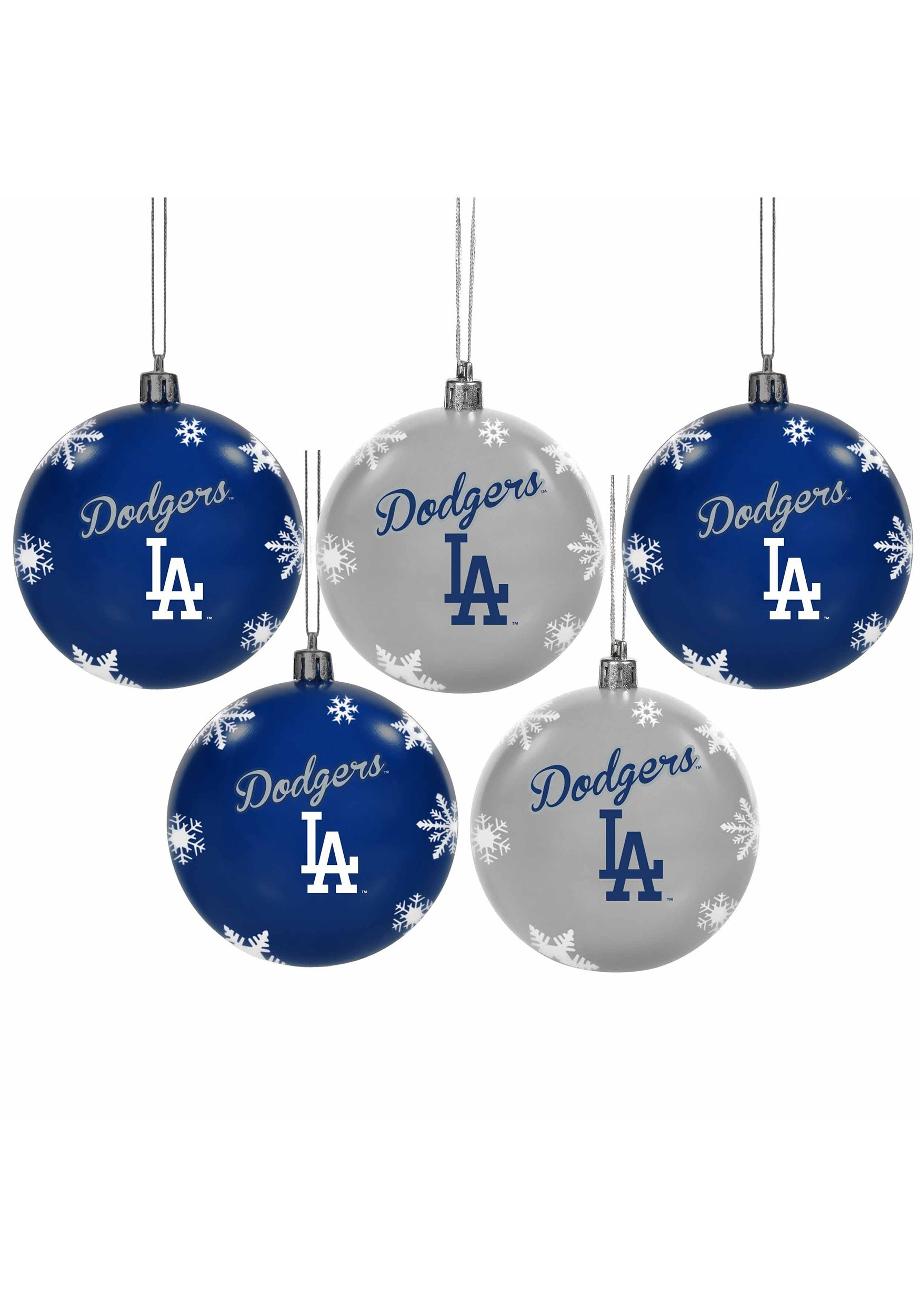 Los Angeles Dodgers Shatterproof 5 Pack Ball Ornament