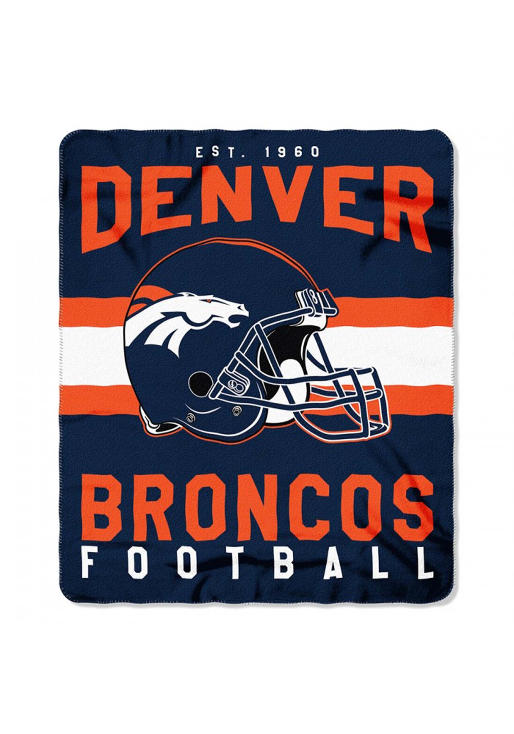 9c638ab4 NFL Denver Broncos Singular Fleece Throw