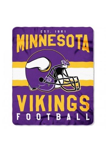 Minnesota Vikings NFL Singular Fleece Throw