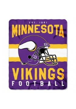 Minnesota Vikings NFL Singular Fleece Throw