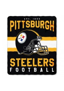 Pittsburgh Steelers NFL Singular Fleece Throw