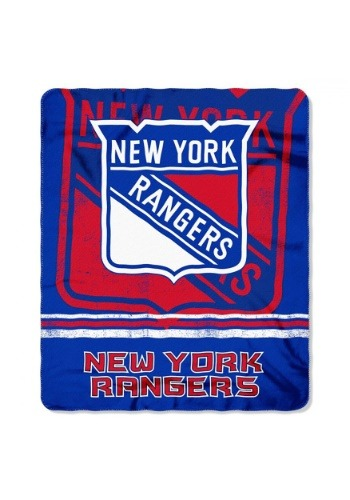 New York Rangers NHL Fadeaway Fleece Throw