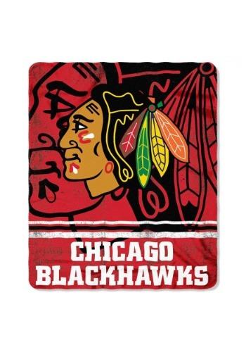 Chicago Blackhawks NHL Fadeaway Fleece Throw