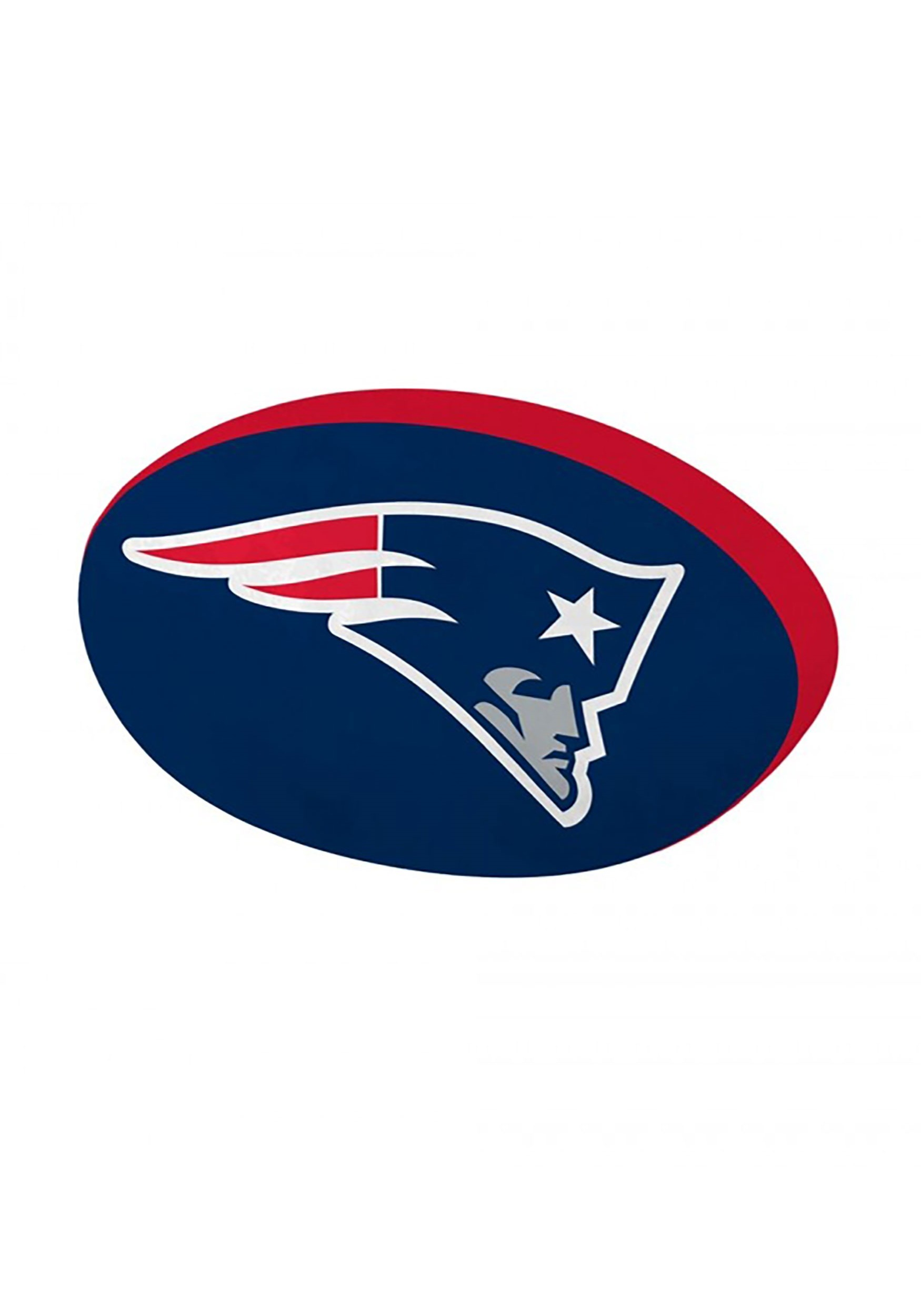 New England Patriots Cloud Logo Pillow