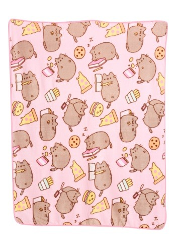 Pusheen Junk Food Throw Blanket-update1